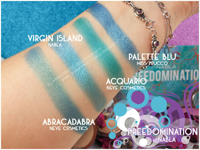 virgin island comparazioni nabla cosmetics freedomination collection summer eyeshadow