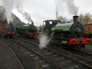 The three steamers being prepared, with Tom on Cochrane