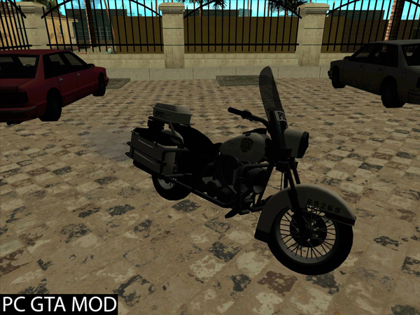 Free Download  Police Bike V R.P.D Mod for GTA San Andreas.