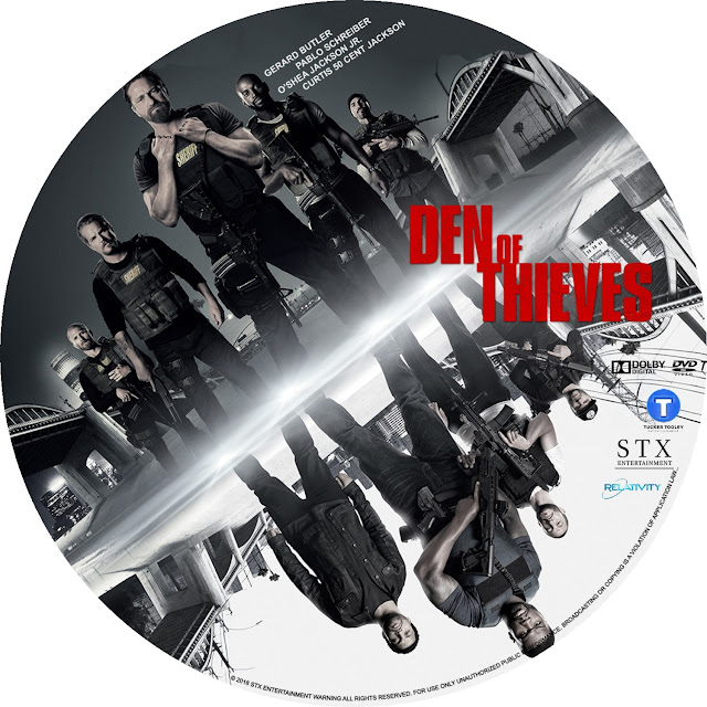 Den Of Thieves DVD Label