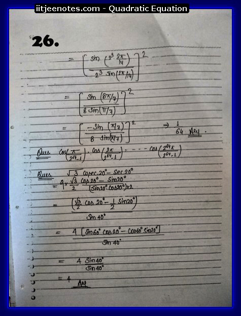 maths class 11 notes quadratic equation6