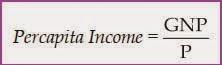 rumus pendapatan perkapita