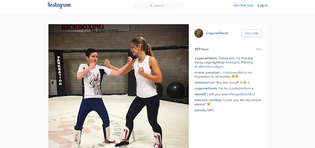 Vogue Williams Instagram Catherine Costigan MMA