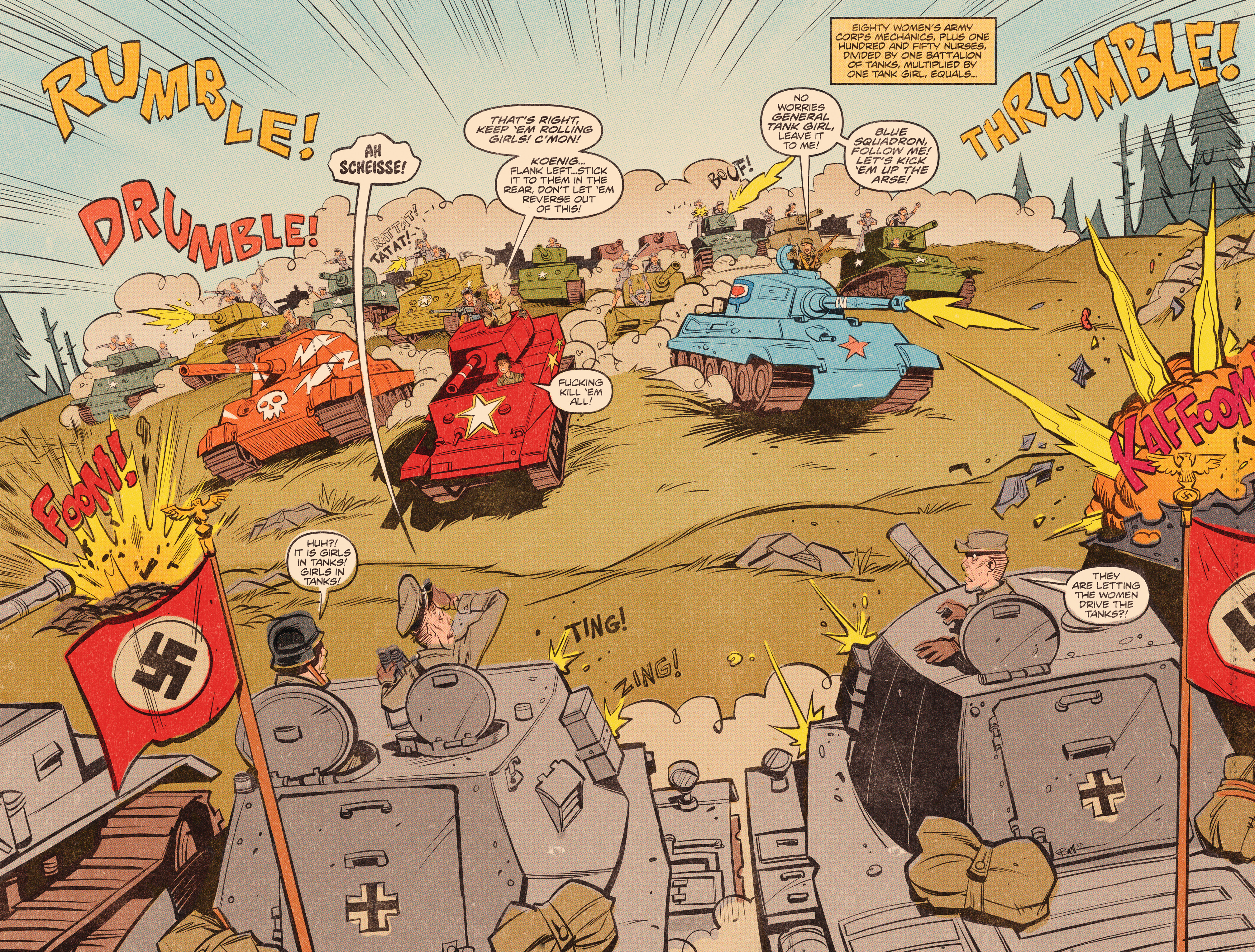 Read online Tank Girl: World War Tank Girl comic -  Issue #3 - 10