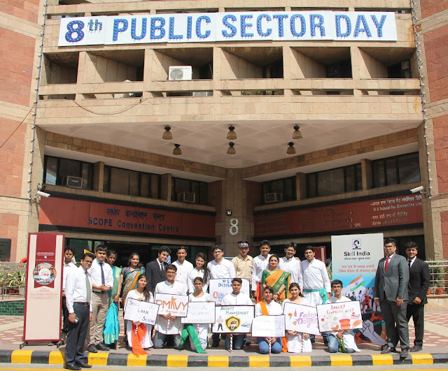 AIHTM students with Principal, AIHTM, ITDC on the 8th PSU celebration day-