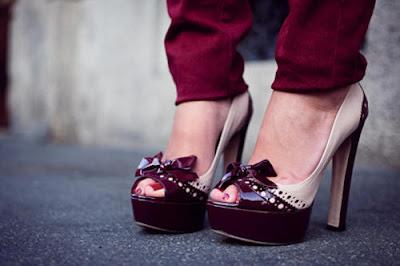 Zapatos de tacon modernos