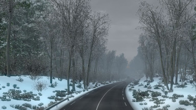 ets 2 frosty winter weather mod v7.1 screenshots 3