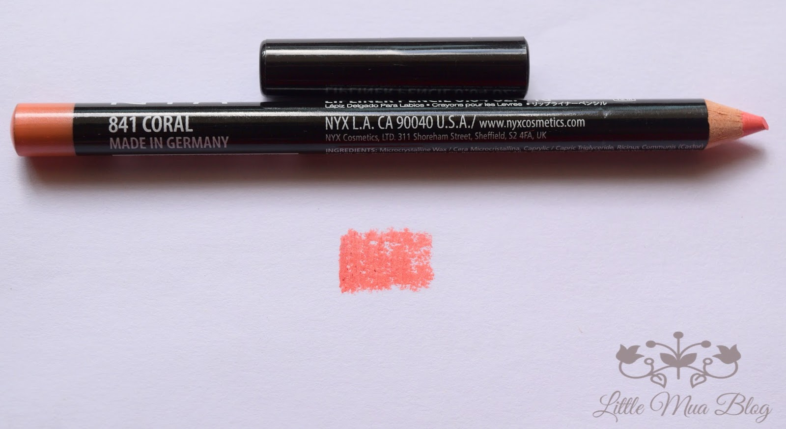 nyx lip liner pencil dolly pink tangerine rose coral swatch review little mua blog