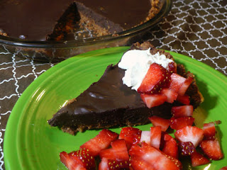 Chocolate Honey Truffle Tart with Strawberries by SneakySpoons