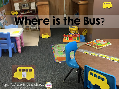 Where is the Bus? Get 'em moving in speech therapy. www.speechsproutstherapy.com