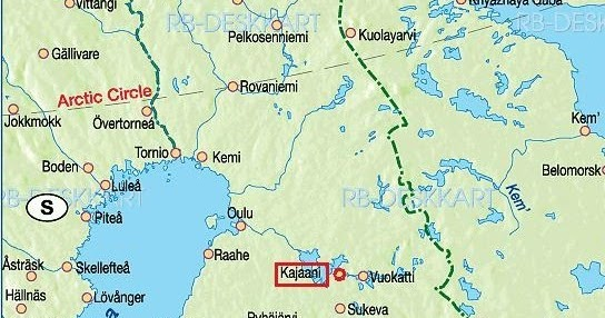 Ultima Thule Kajaani Finland a town and a castle up north