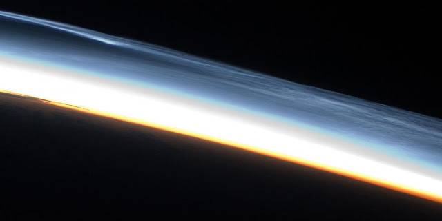 Polar Mesospheric clouds. Credit: NASA