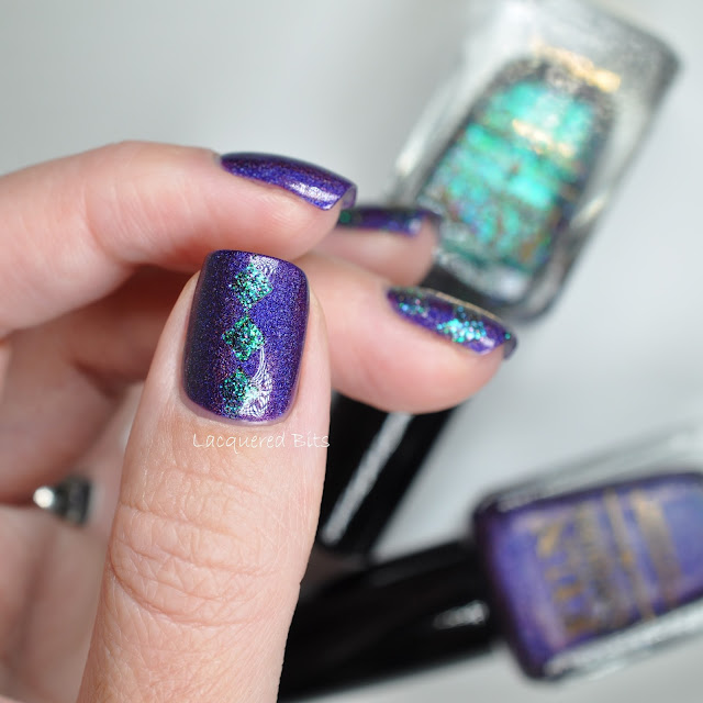 F.U.N Lacquer Evening Gown Swatches & Review and nail art