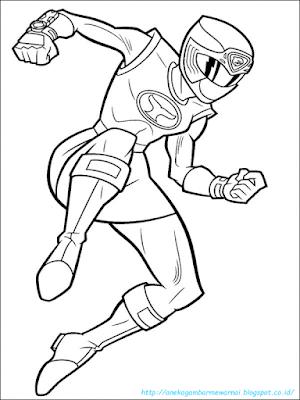 Mewarnai Gambar Power Ranger - 4