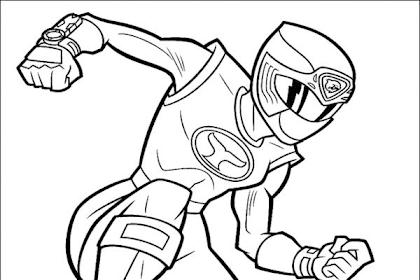 Gambar Mewarnai Power Rangers
