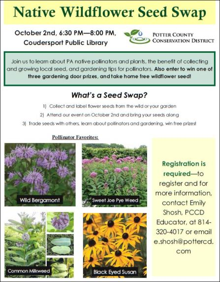 10-2 Native Wildflower Seed Swap