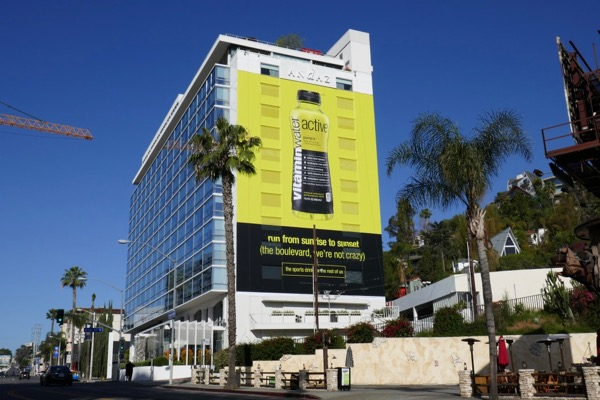 yellow Vitaminwater Active billboard