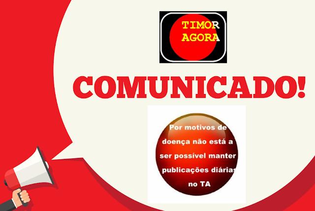 COMUNICADO TIMOR AGORA