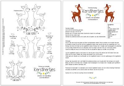 Huisvolkleur Gratis Patroon Kerstlichtje Met Hertjes