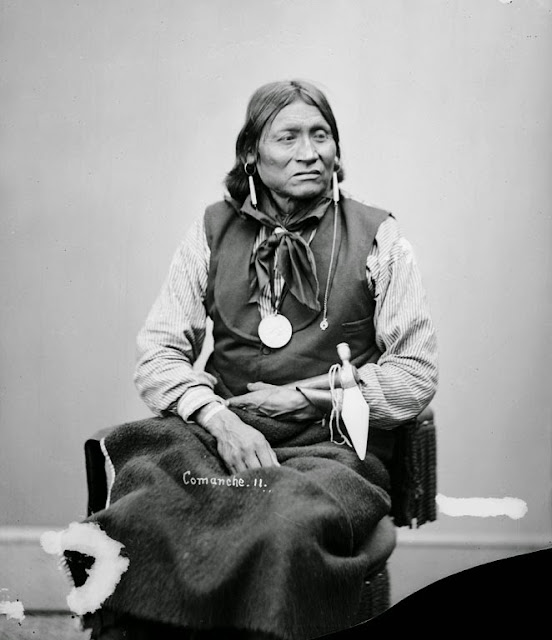 Chefe Comanche Chewing Elk- (1872)