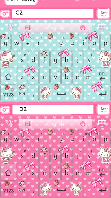 pretty droid themes hello kitty strawberry go keyboard skins. Black Bedroom Furniture Sets. Home Design Ideas