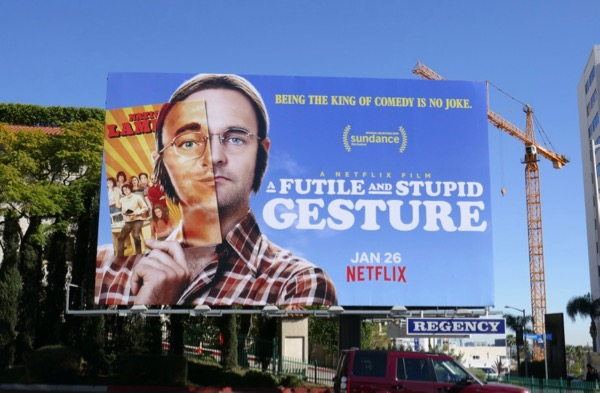 Futile Stupid Gesture movie billboard