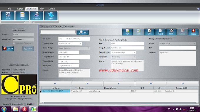 Aplikasi Surat Sistem Administrasi Desa Berbasis Desktop
