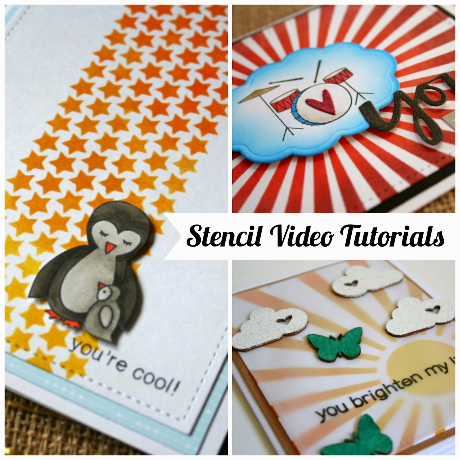 Cards and Projects with Stencils and Video Tutorials