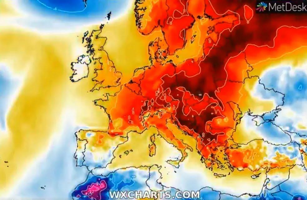 Uno strano fenomeno climatico si diffonde in tutta Europa.