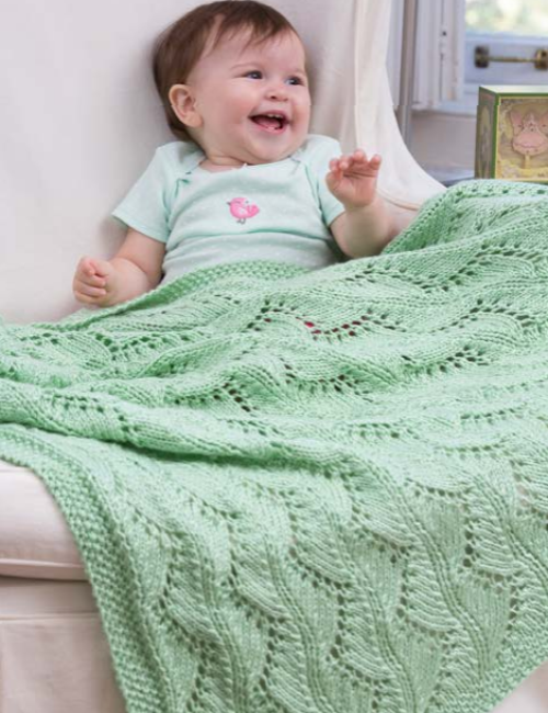 Lace Chevrons Baby Blanket - Free Pattern