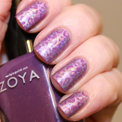 Layla Ultraviolet and Zoya Tru Leopard Nail Art