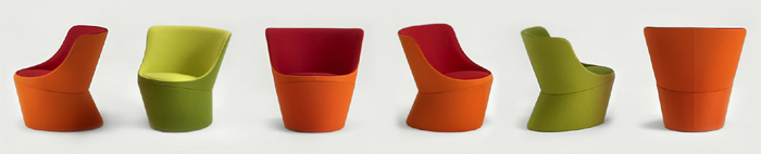DIDI chair. High level of customization, seating comfort, sustainable craftsmanship and a unique sculptural expression