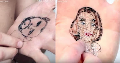 Καλλιτέχνης ράβει το χέρι του – Δείτε τον λόγο
