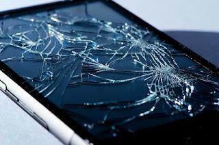 Gambar smartphone android rusak