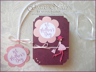 1st. Mother's Day Card and Pendant, designed by Grace Baxter