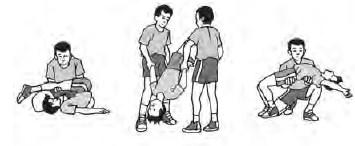 aktivitas senam lantai  gymnastic floor exercise neck