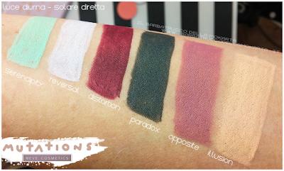 SWATCHES BIO PASTELLO -  Collezione Mutations - Neve cosmetics