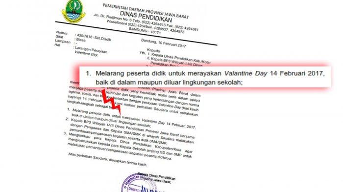 Dinas Pendidikan Valentine Dilarang Di Jabar Ngelmu