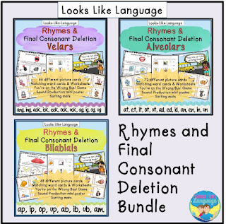 Rhyming and Articulation skills in one fun bundle packed full of picture cards!