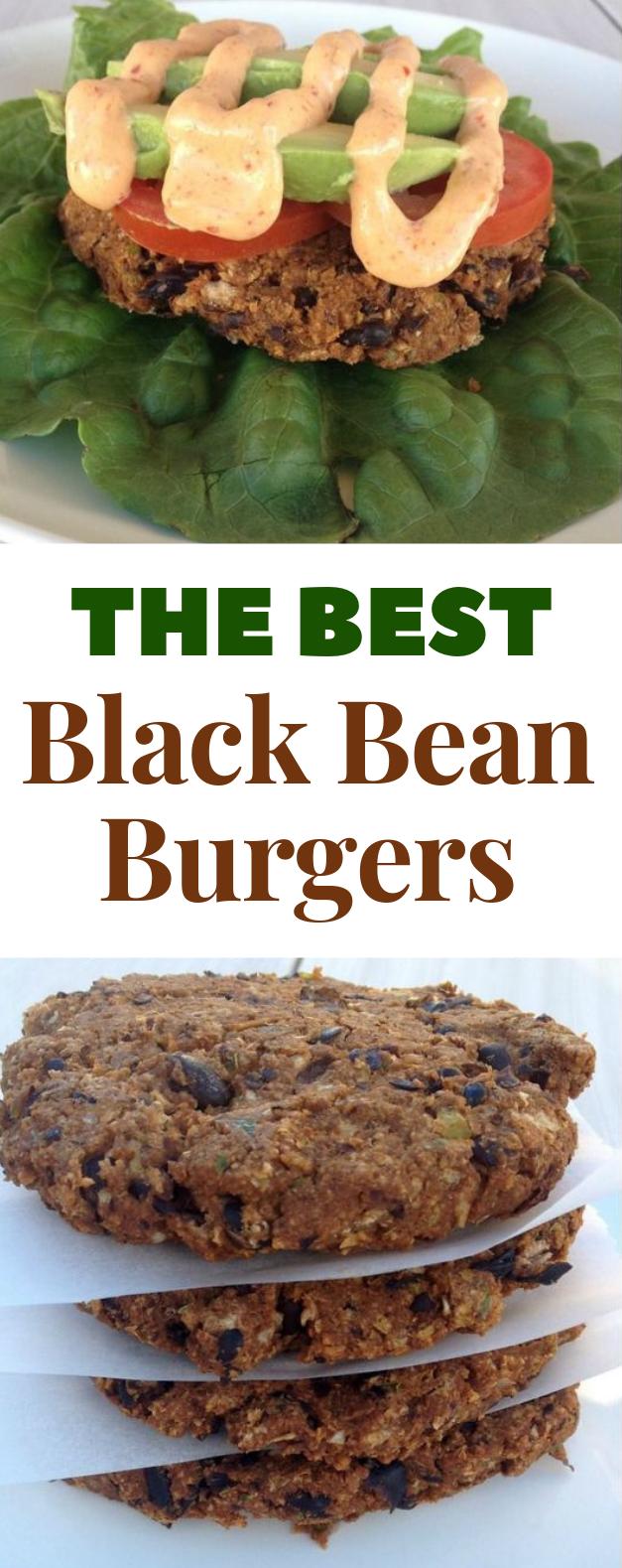 BLACK BEAN BURGERS #Burgers #HealthyRecipe
