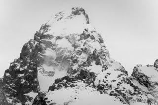 Cramer Imaging's fine art landscape photograph of the Grand Teton mountain of Grand Teton National Park Wyoming in black and white