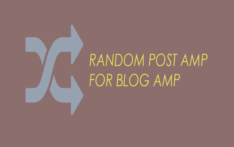 Random Post Bagi Pengguna Template AMP