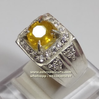 Cincin Batu Permata Yellow Saphire ZP 1094
