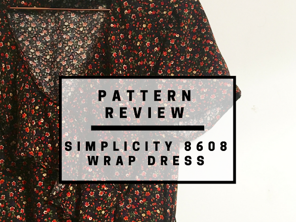 Pattern review: Simplicity 8608 faux wrap dress