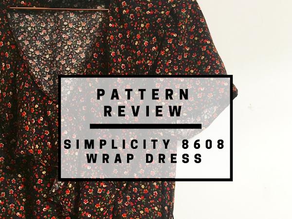 Pattern review: Simplicity 8608 faux wrap dress