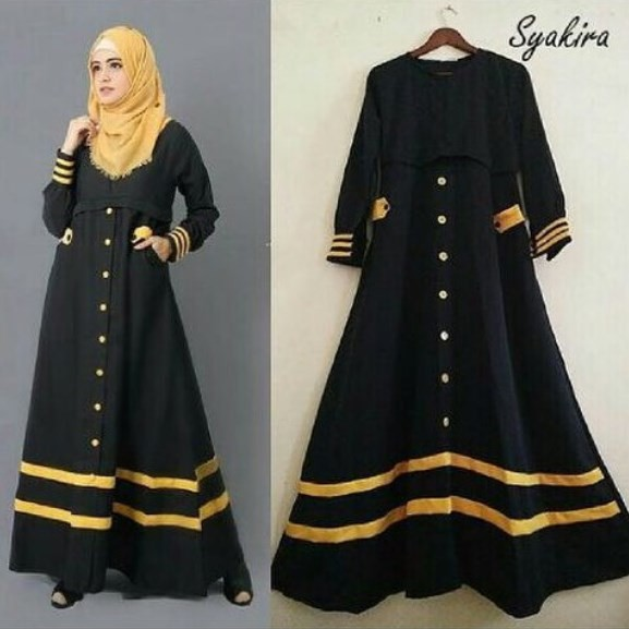 15 Model Long Dress Kombinasi Modern Polos Motif Gaya Modern