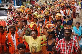 Milk Pot procession during Panguni-Uthiram, G.Karthikeyan, The Hindu, 21 May 2012
