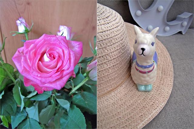 Róża, porcelanowa figurka-lama