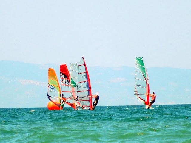 vele, mare, cielo, scuola di vela