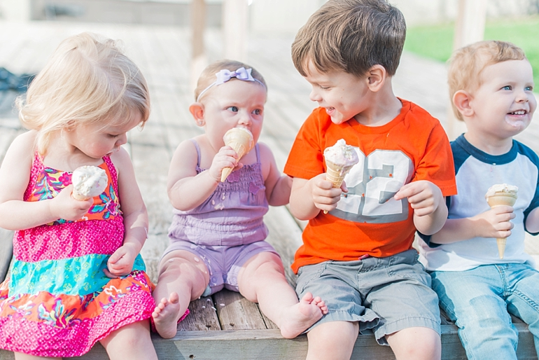 The Kelly Family: the kelly kids eating ice cream